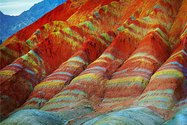 chinese rainbow mountains